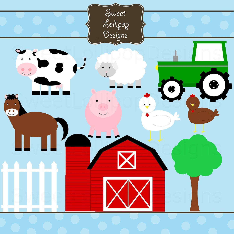 Farm Animal Free Printables   Farm Animals Digital Clip Art Clipart - Free Printable Farm Animals