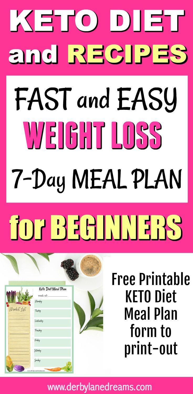 Fast And Easy Weight Loss On The Keto Diet, Recipes And Meal Plan In - Free Printable Meal Plans For Weight Loss