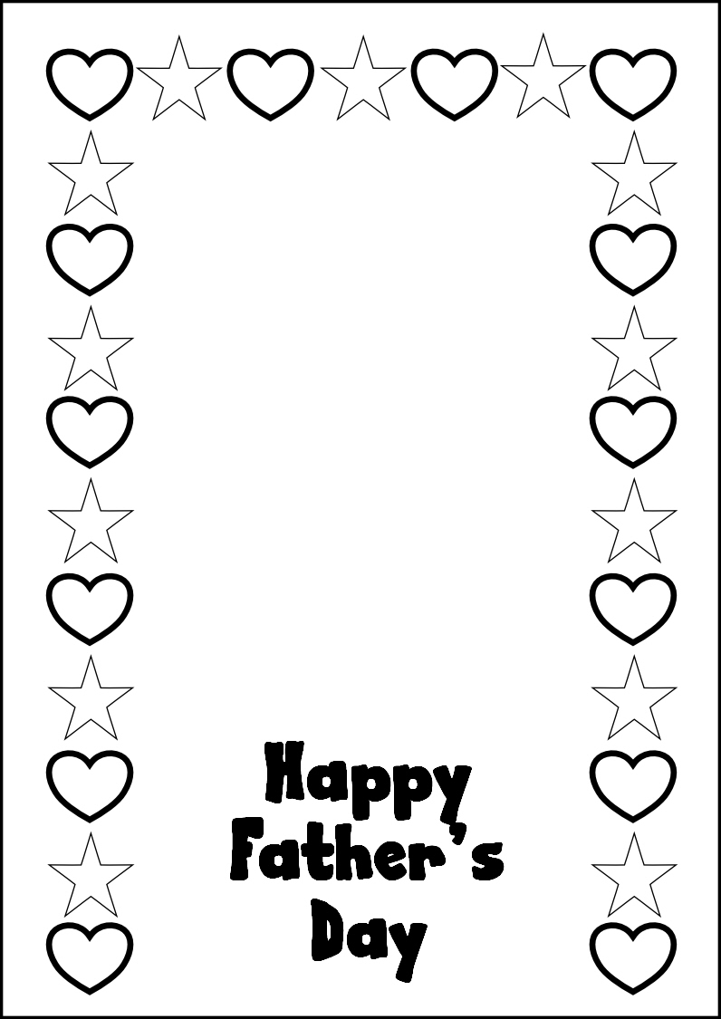 Fathers Day Coloring Pages Printables - 8.6.kaartenstemp.nl • - Free Printable Happy Fathers Day Grandpa Cards