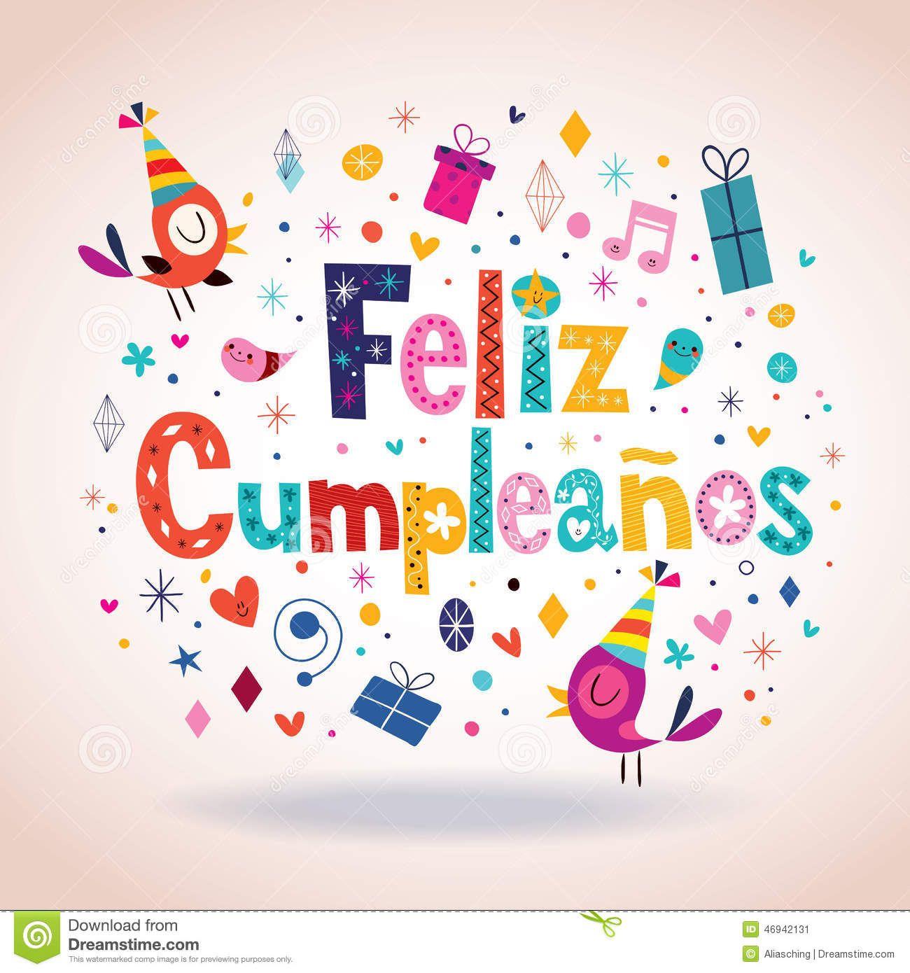 Feliz Cumpleanos - Happy Birthday In Spanish Card - Download From - Free Printable Happy Birthday Cards In Spanish