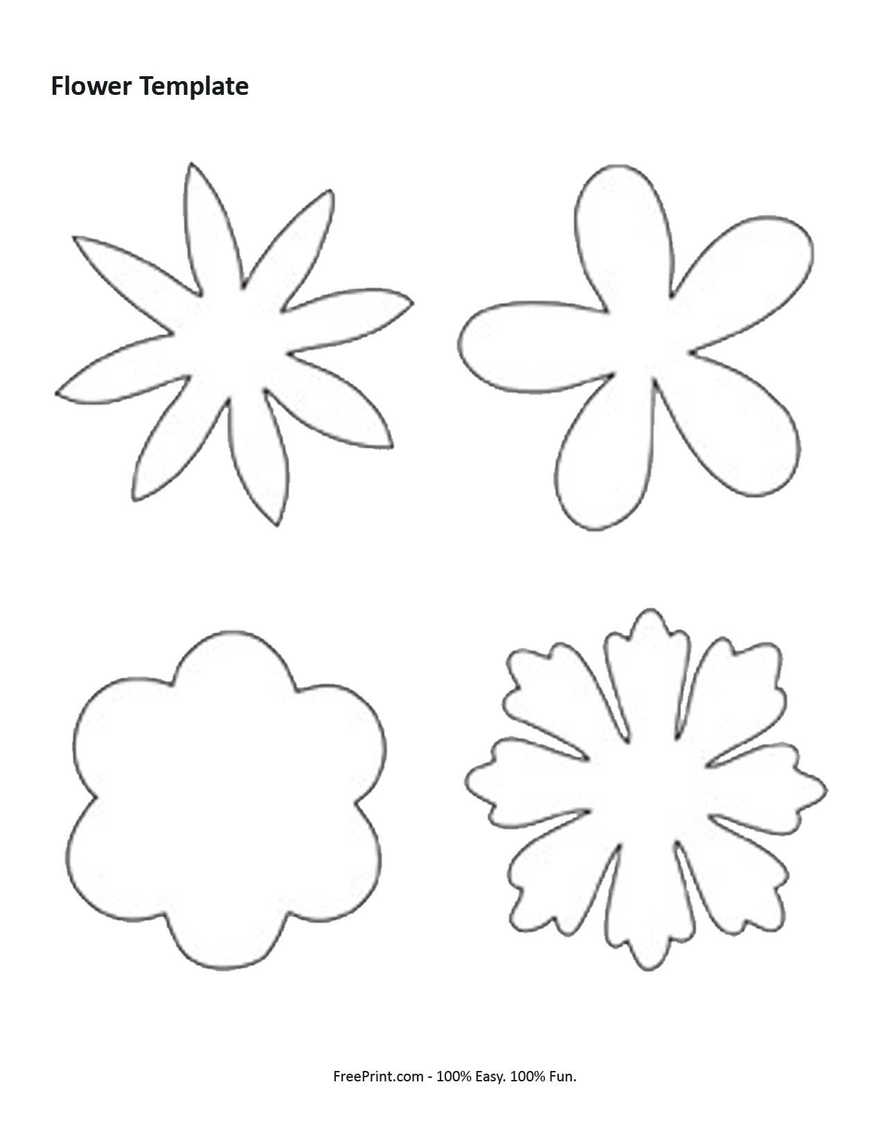 Felt Flower Template | Diy And Crafts | Flower Template, Felt - Free Printable Flower Template