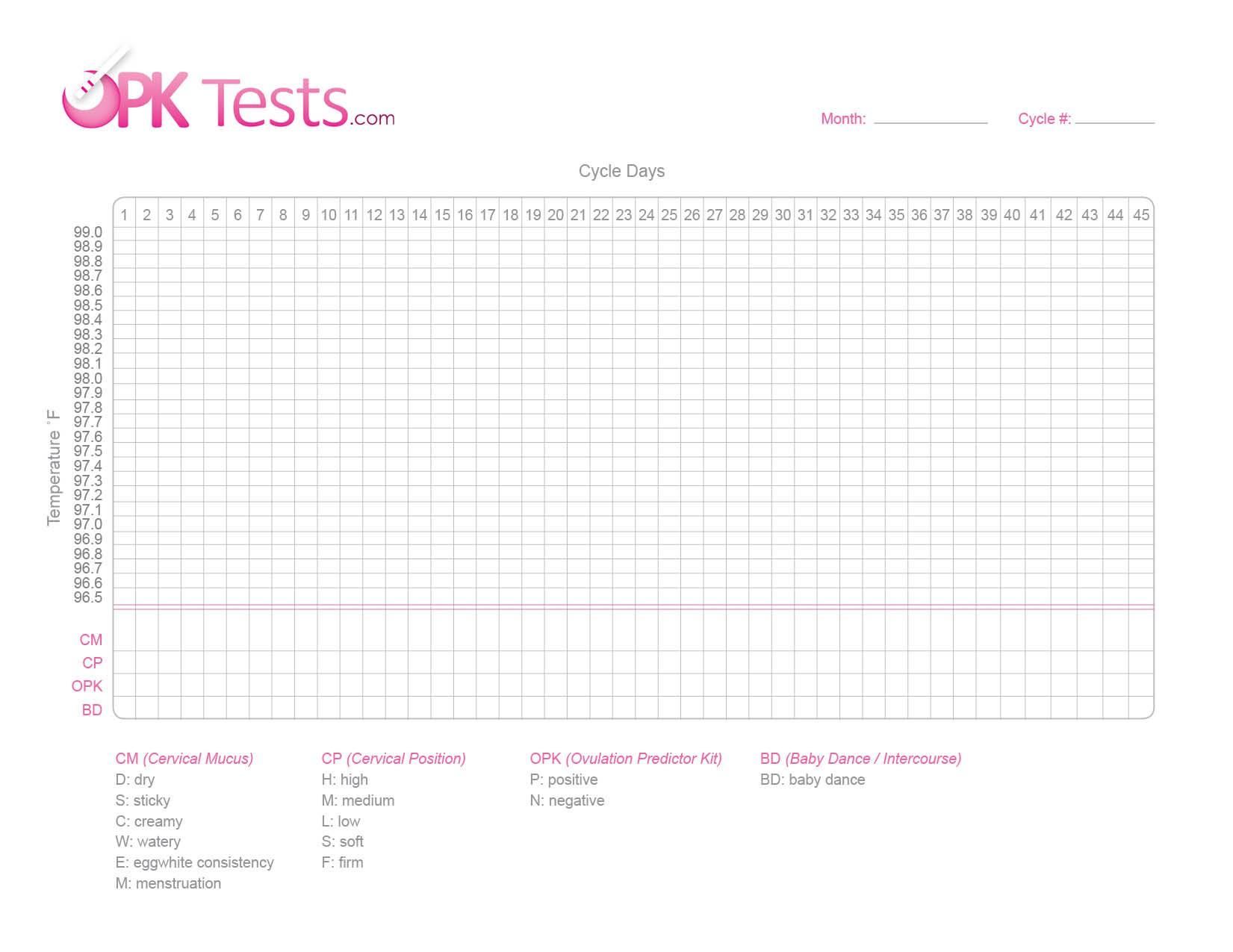 Fertility Calendar Printable Free Fertilty Chart Opk Tests Buy - Free Printable Fertility Chart
