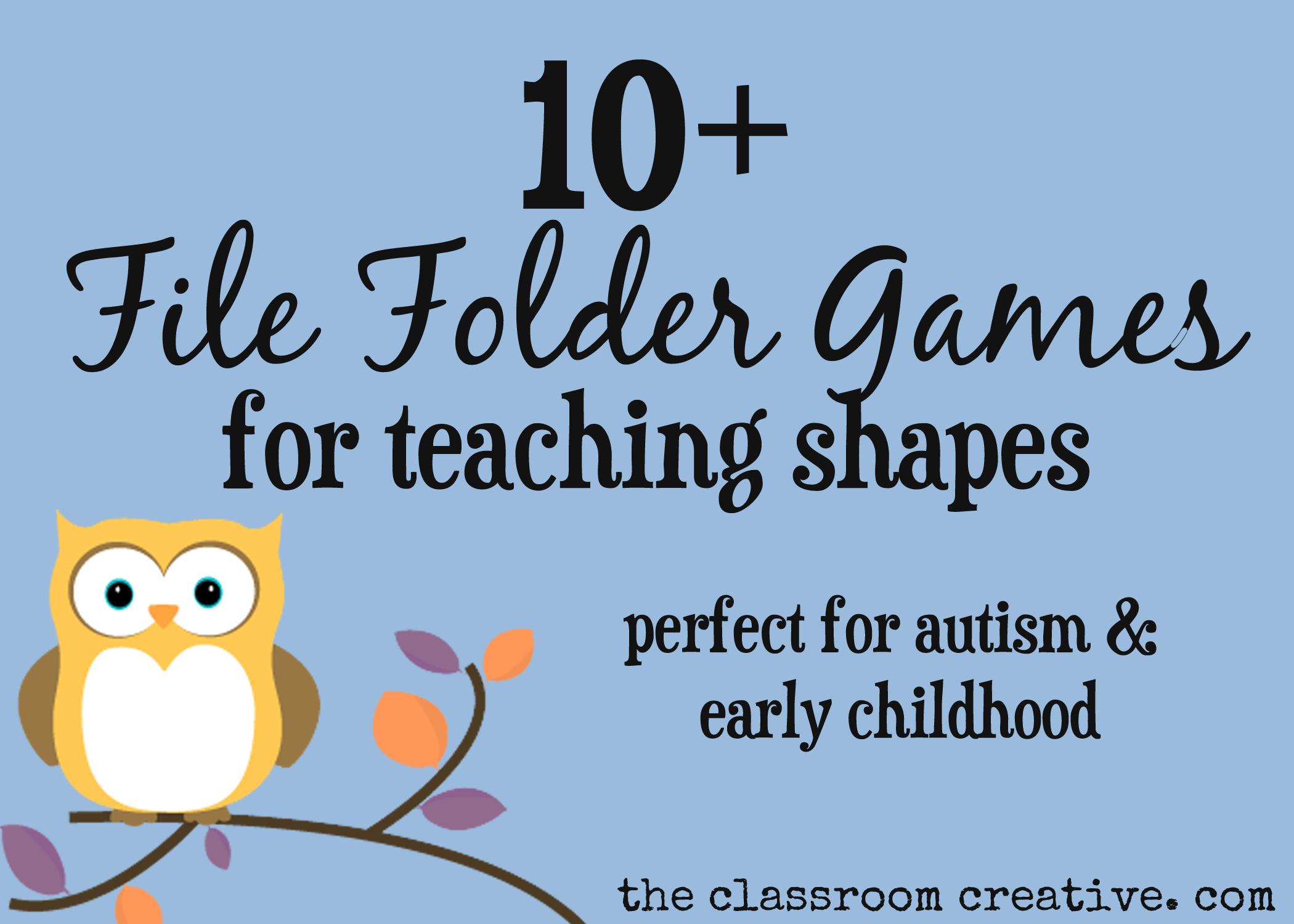 File Folder Games For Teaching Shapes - Free Printable File Folder Games