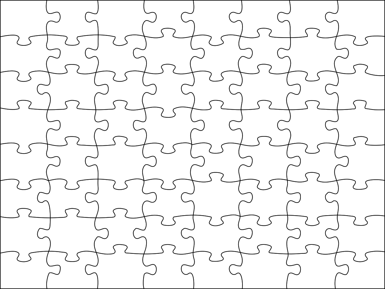 File:jigsaw Puzzle.svg - Wikimedia Commons - Jigsaw Puzzle Maker Free Printable