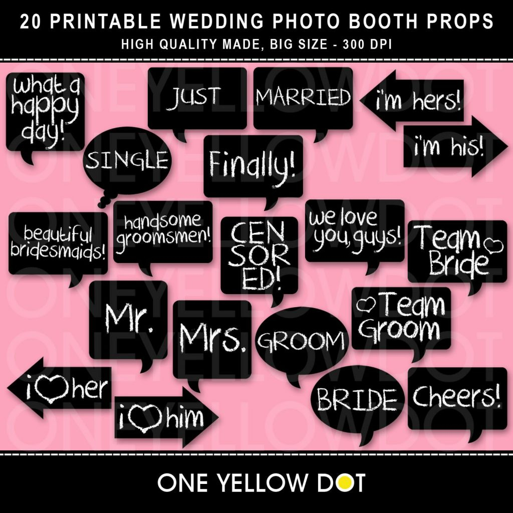 Find The Best Lovely Wedding Photo Booth Props Printable Pdf On A - Free Printable Wedding Photo Booth Props