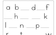 Find The Missing Lowercase Letters Worksheet (Free Printable) - Free Printable Lower Case Letters