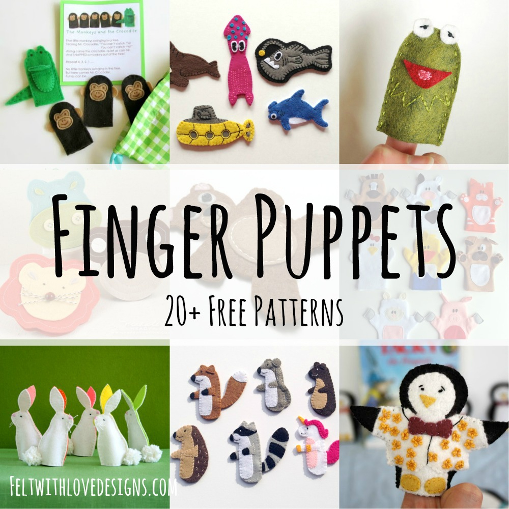 Finger Puppet: Free Felt Patterns - Felt With Love Designs - Free Printable Finger Puppet Templates