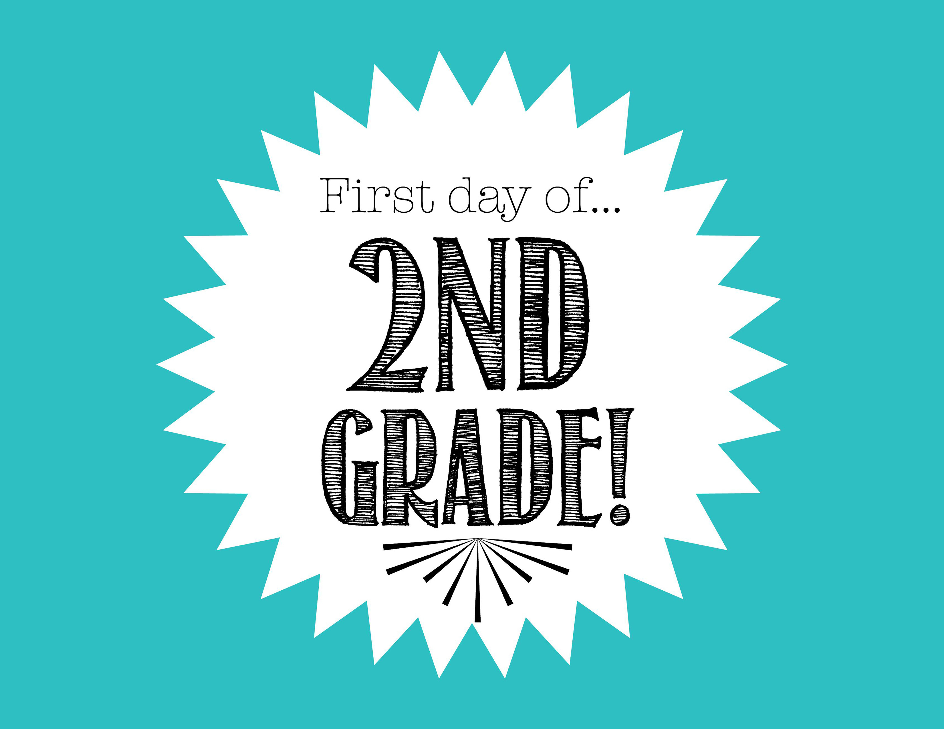 First Day Of 2Nd Grade Free Back To School Printable - Freebies2Deals - First Day Of Second Grade Free Printable Sign