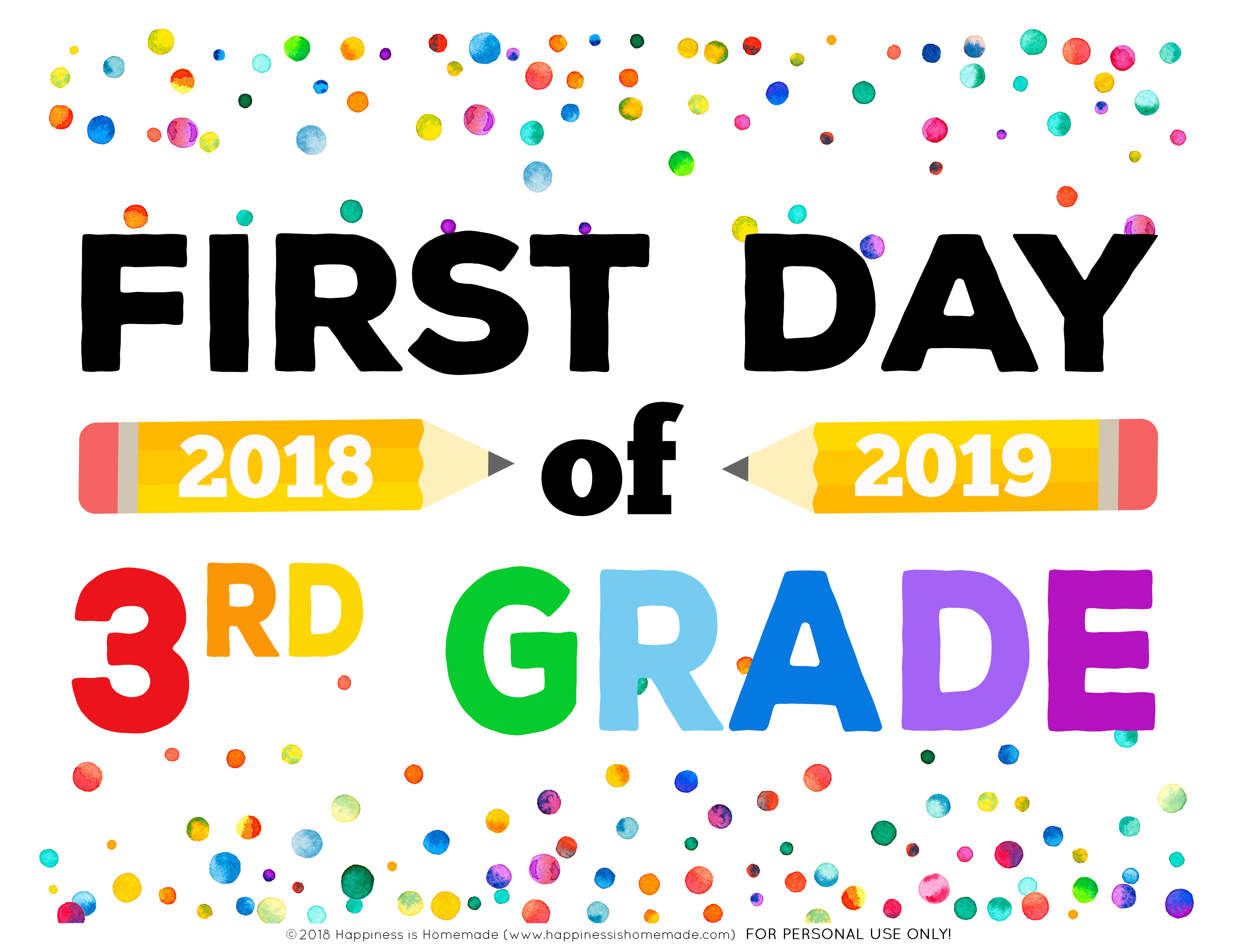 First Day Of School Signs - Free Printables - Happiness Is Homemade - My First Day Of Kindergarten Free Printable