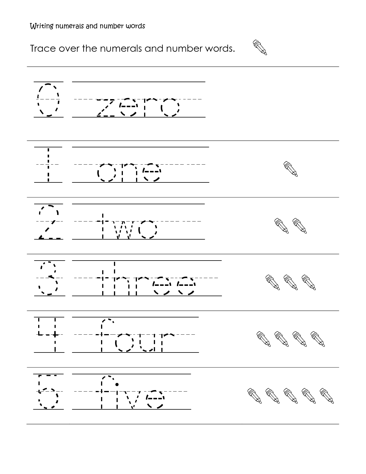 First Grade Math | First Grade Math Worksheet, Writing Numbers And - Free Printable Writing Worksheets