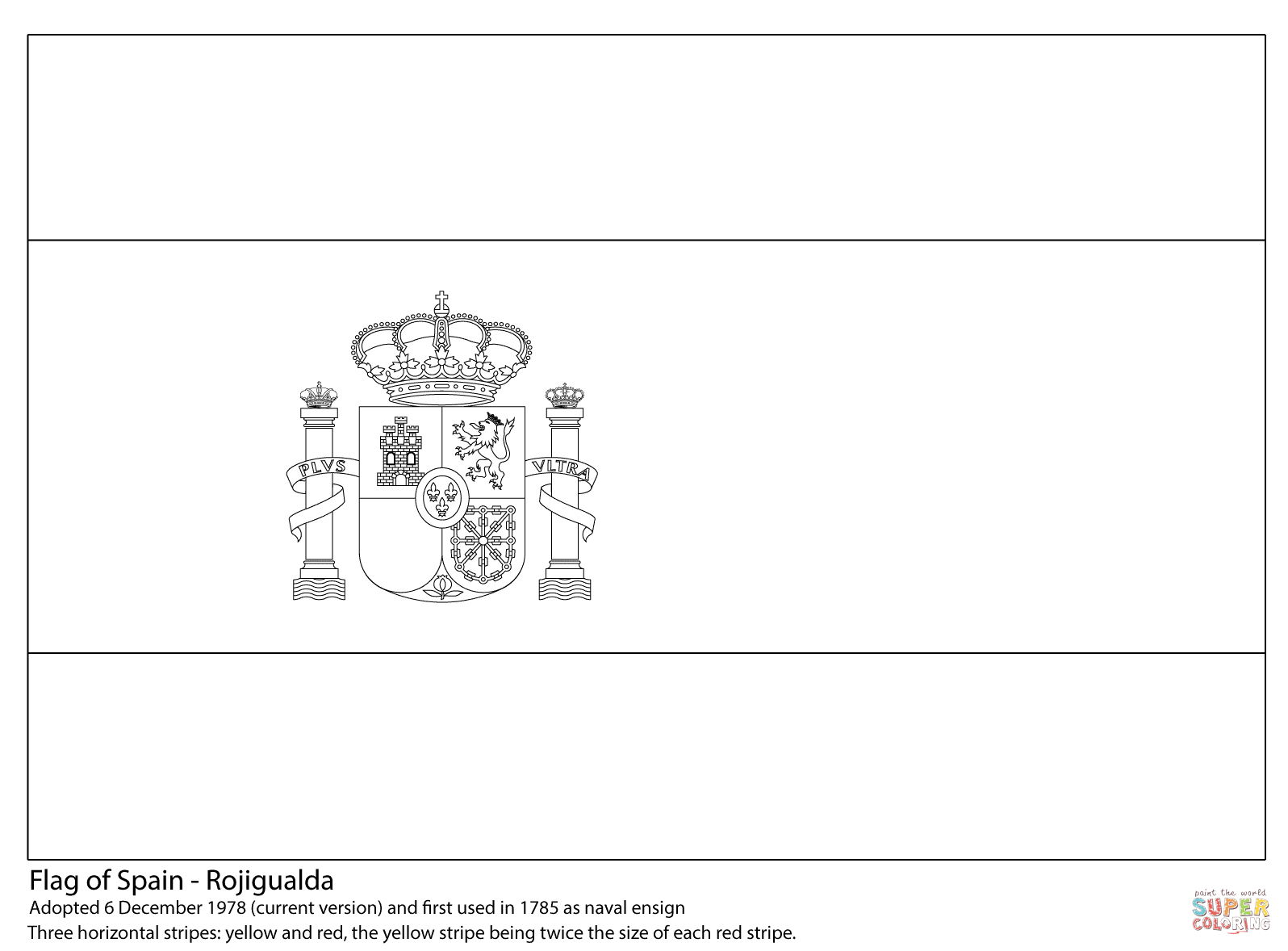 Flag Of Spain Coloring Page | Free Printable Coloring Pages - Free Printable Blank Flag Template