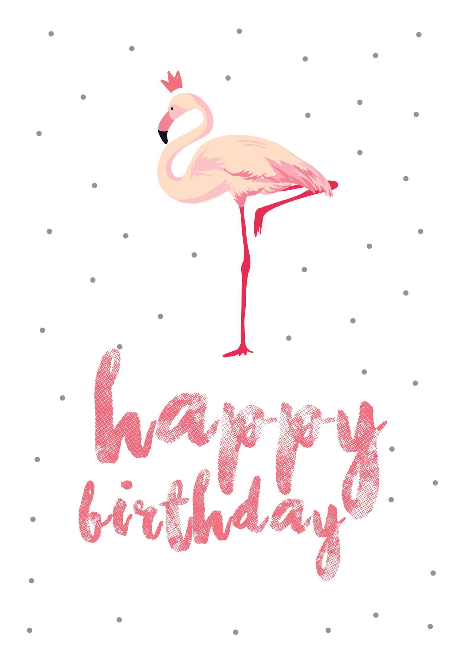 Flamingo Birthday - Free Printable Birthday Card | Greetings Island - Free Printable Greeting Cards No Sign Up