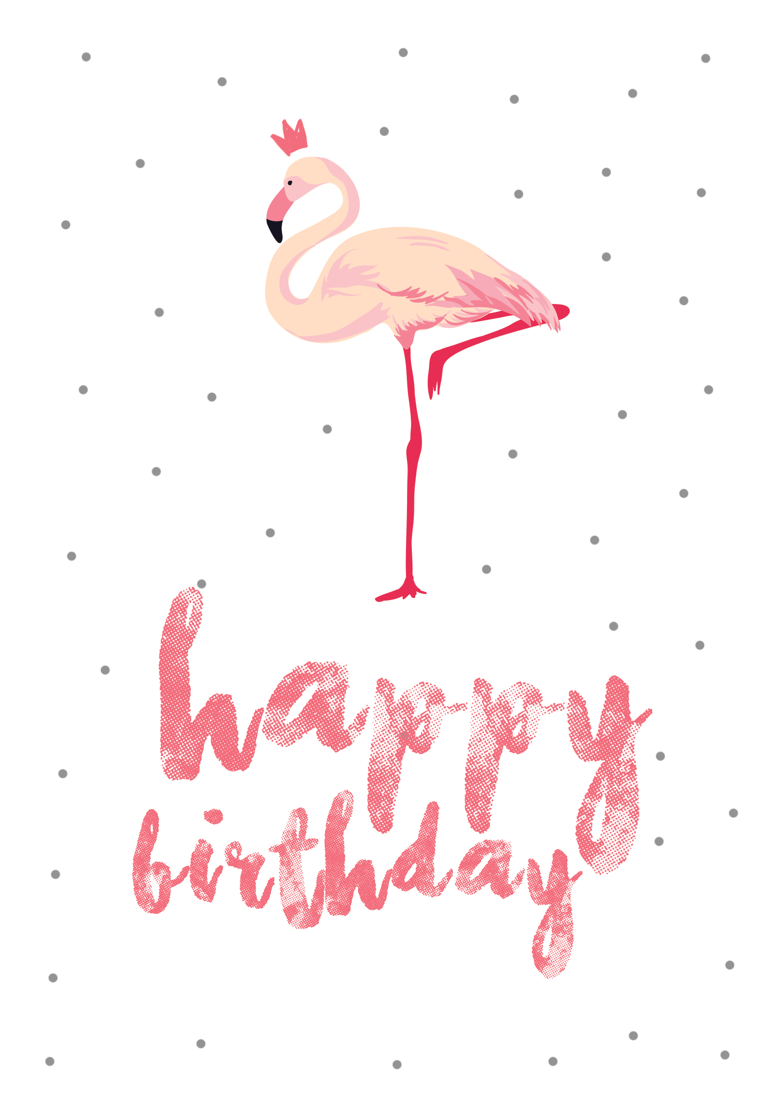 Flamingo Birthday - Free Printable Birthday Card | Greetings Island - Free Printable Thinking Of You Cards