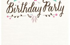 Free Printable Birthday Invitations
