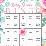 Floral Baby Bingo Cards – Printable Download – Prefilled – Spring – Baby Bingo Game Free Printable