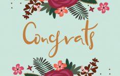 Free Printable Wedding Congratulations Greeting Cards