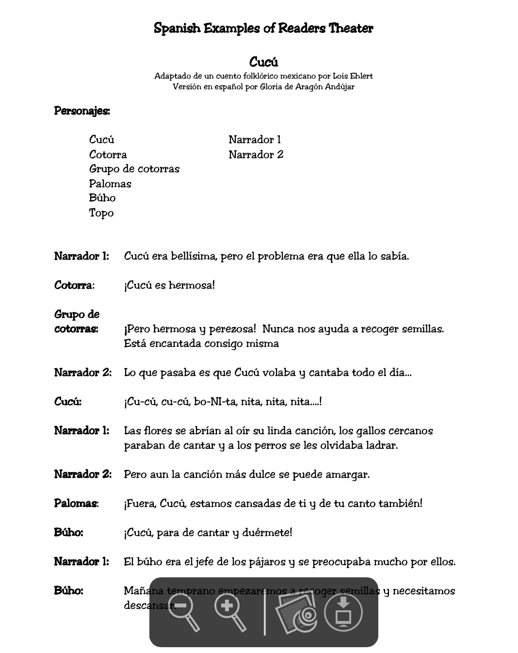 Fluency (Spanish): Reader's Theater Scripts | Building Rti - Free Printable Readers Theater Scripts 3Rd Grade