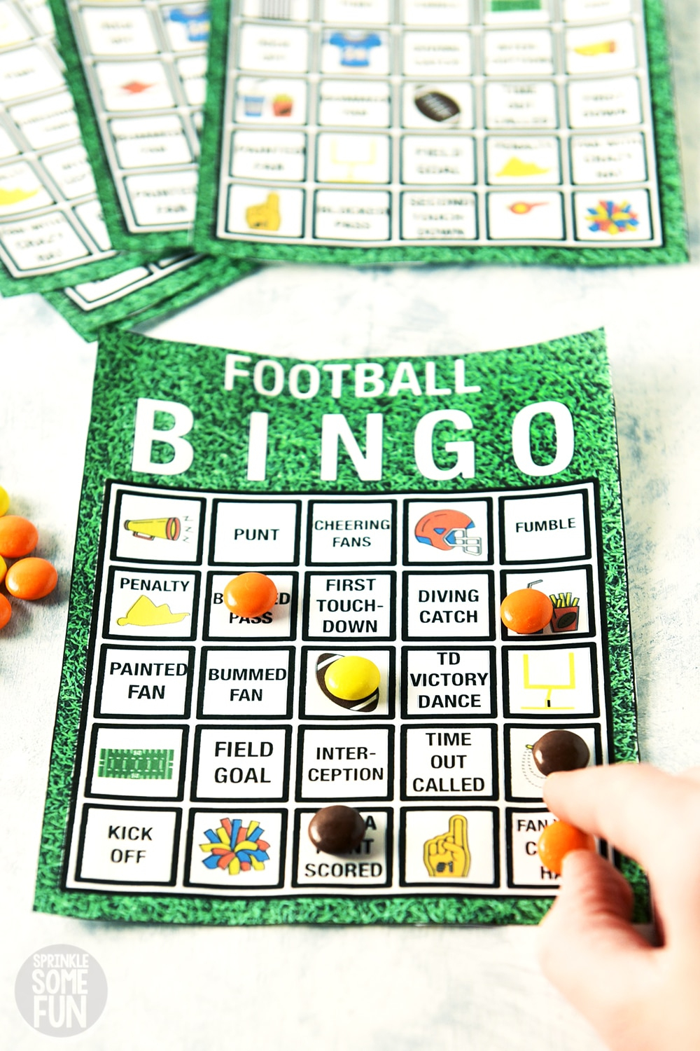 Football Watch Party Tips⋆ Free Printable Decor & Bingo ⋆ Sprinkle - Free Printable Christmas Board Games