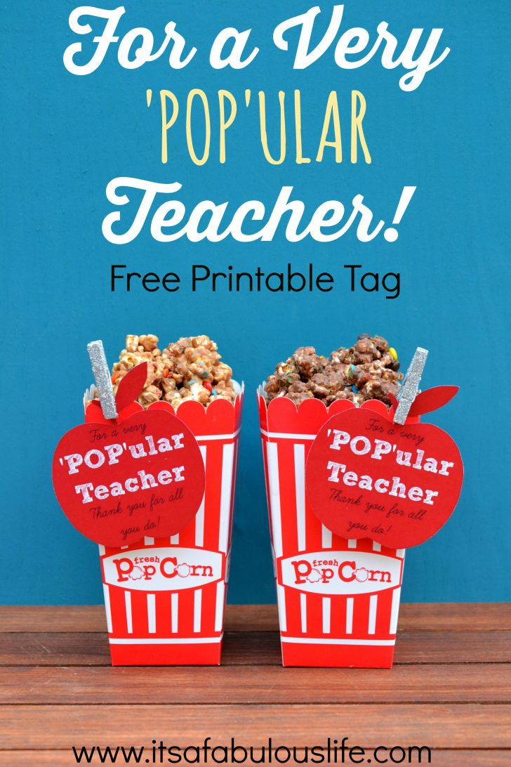Free Popcorn Teacher Appreciation Printable