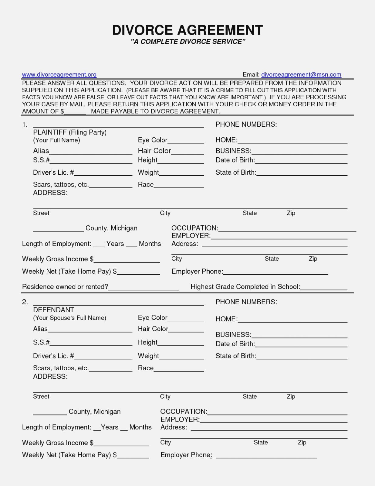 Form Free Printable Divorce Papers Sales Report Template Intended - Free Printable Divorce Papers