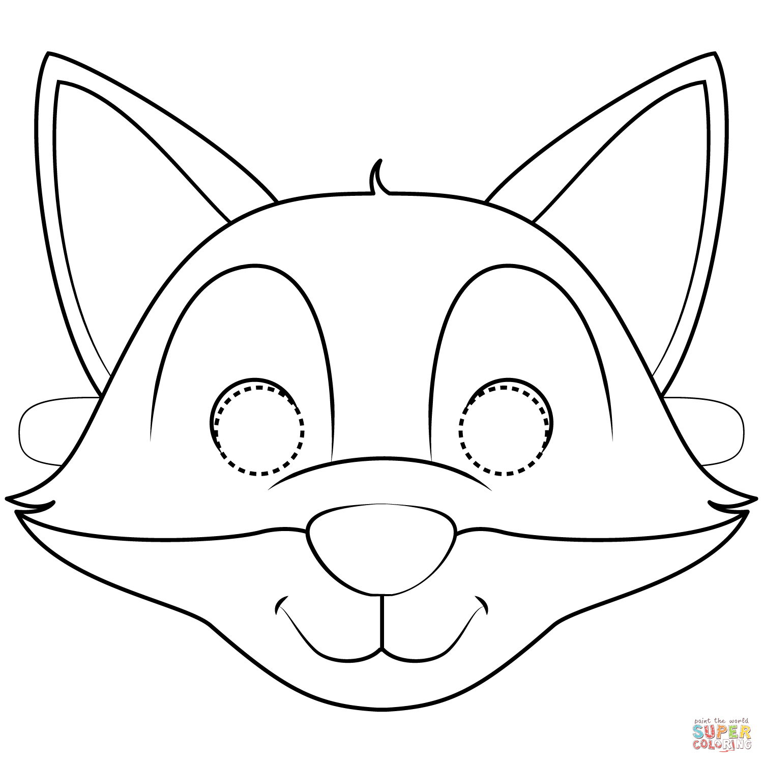 Fox Mask Coloring Page | Free Printable Coloring Pages - Free Printable Fox Mask Template