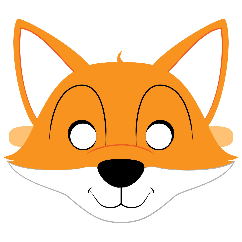 Fox Mask Template | Free Printable Papercraft Templates - Free Printable Fox Mask Template
