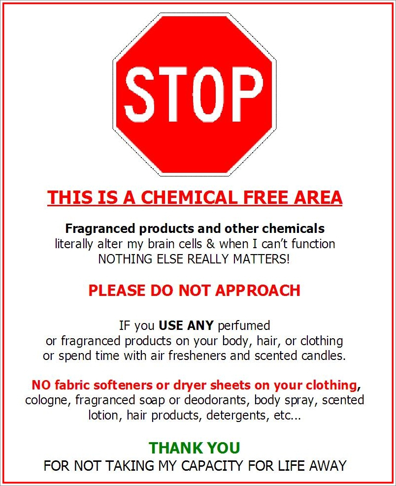"""Fragrance-Free Door Signs 