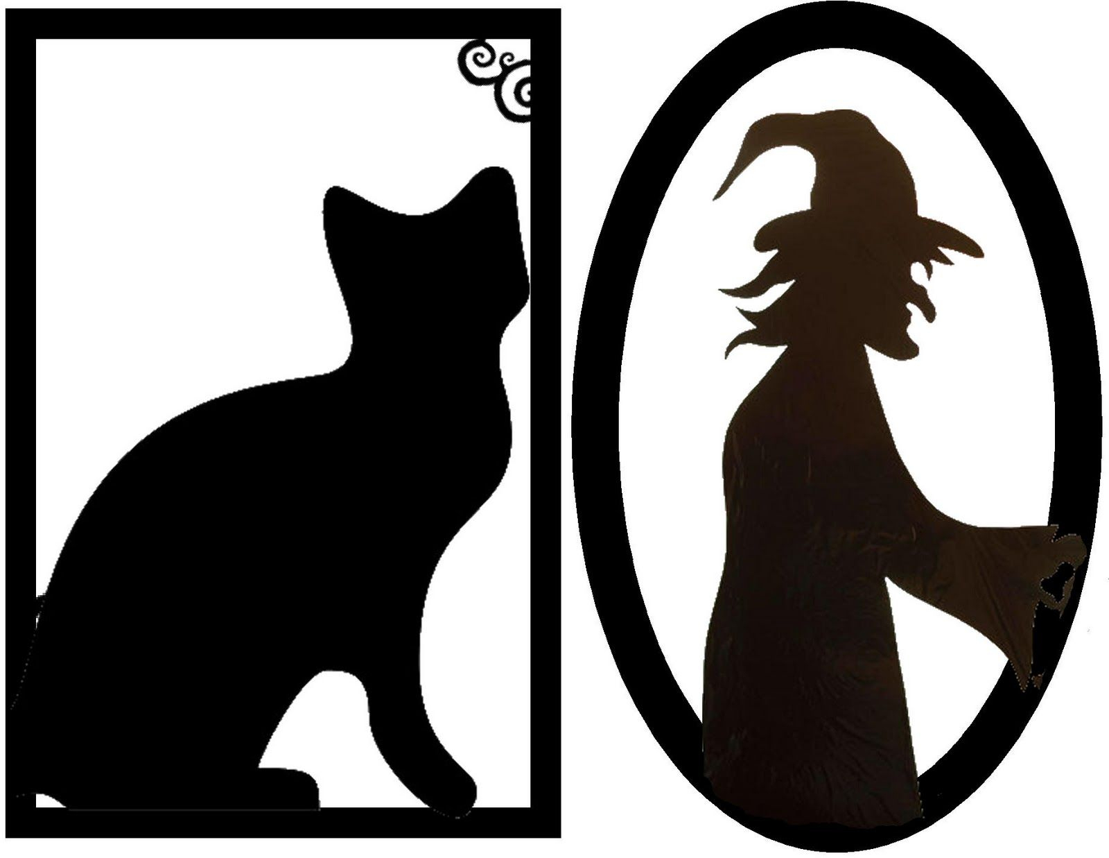 Framed Creepy Silhouette Decorations (Free Halloween Printable - Free Printable Halloween Decorations Scary