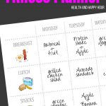 Free 1 Page Printable Fitness Planner | Health And Happy Hour   Free Printable Fitness Planner