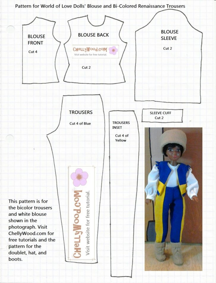 18 Inch Doll Clothes Patterns Free Printable