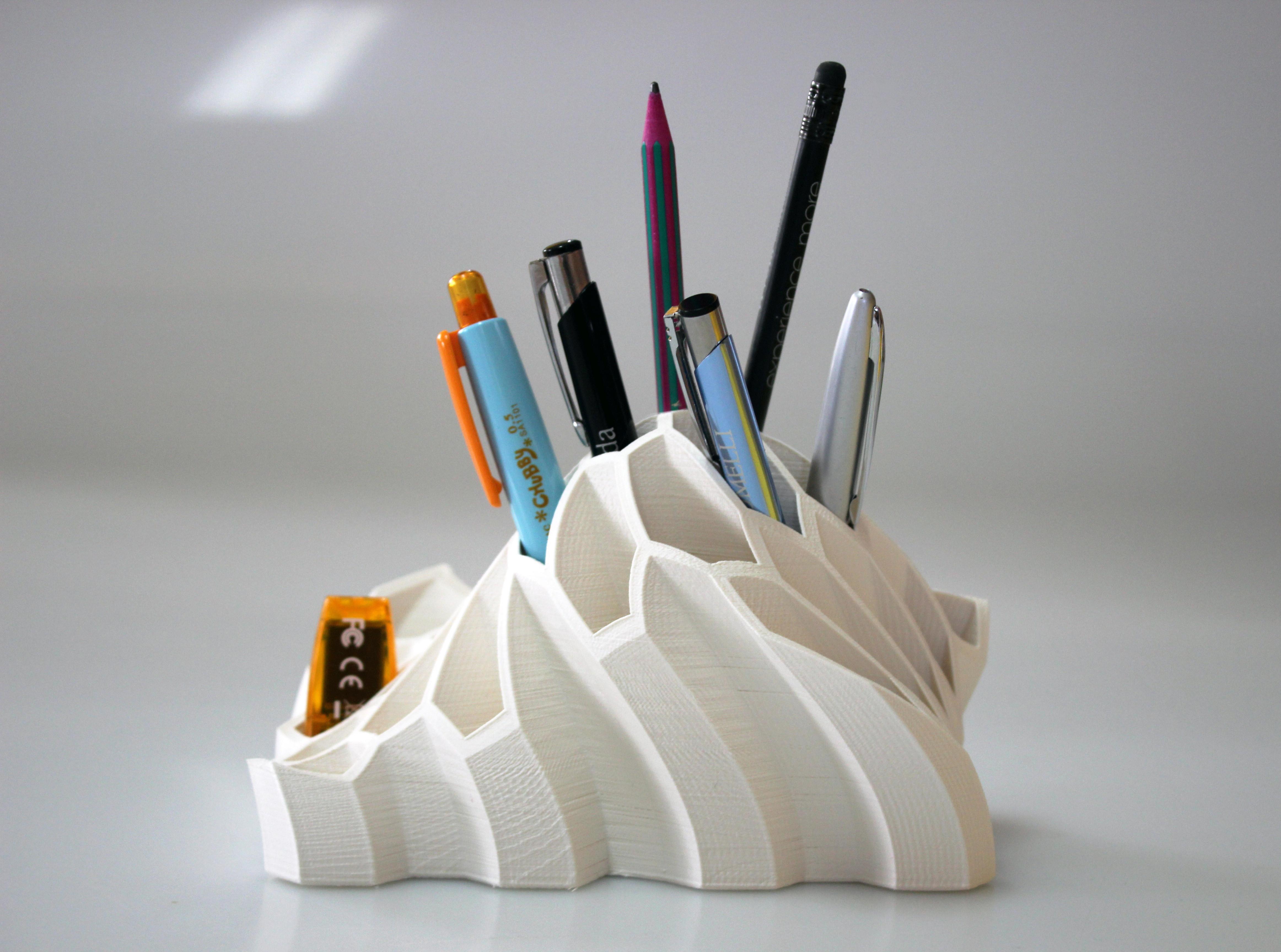 Free 3D Printer Designs Pen And Pencil Holder ・ Cults - Free 3D Printable Models