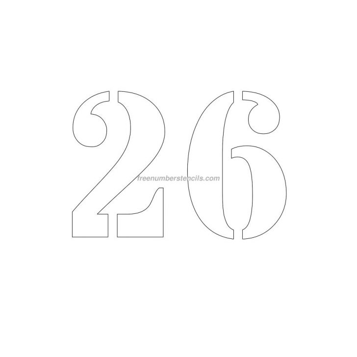 Free Printable Fancy Number Stencils