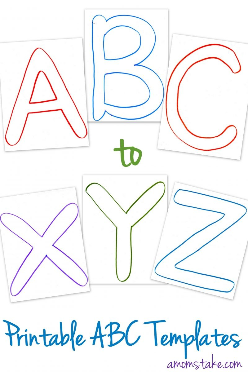 Free Abc Printable Letter Templates For Preschool Or Learning - Free Printable Letter Templates