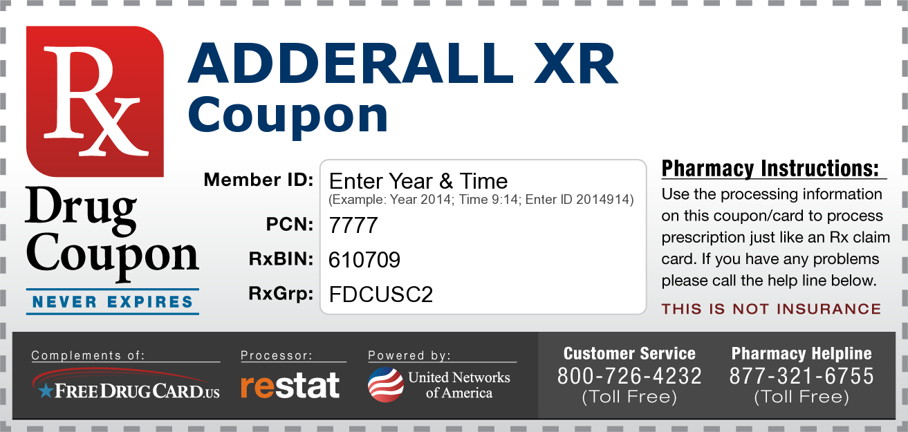Free Adderall Coupon Available To Everyone Regardless Of Age Or - Free Printable Spiriva Coupons