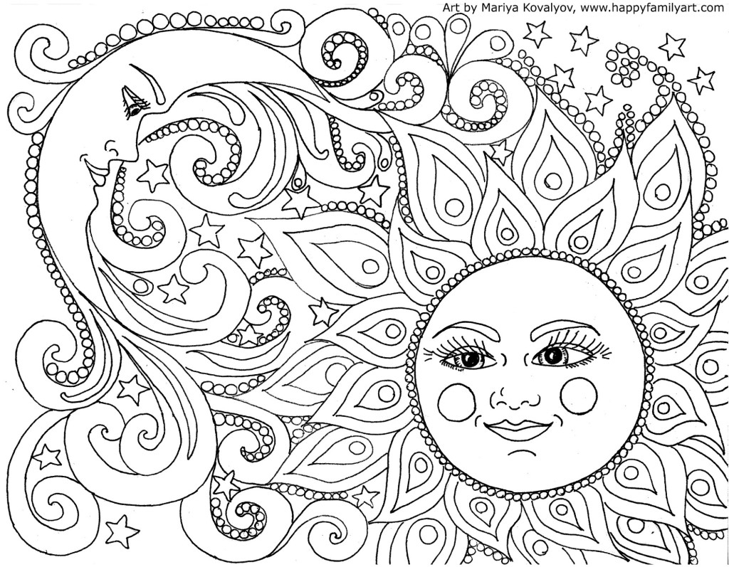 Free Adult Coloring Pages - Happiness Is Homemade - Free Printable Coloring Cards For Adults