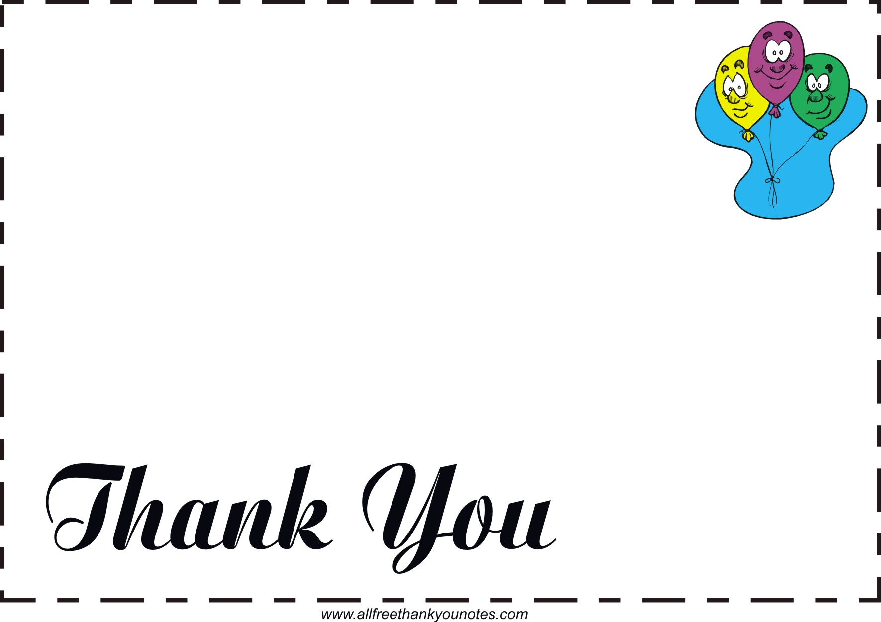 Free All Occasion Thank You Notes And Thank You Cards - Free Printable Special Occasion Cards