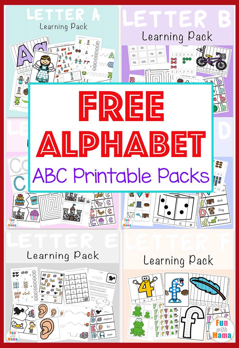 Free Alphabet Abc Printable Packs - Fun With Mama - Free Printable Alphabet Letters
