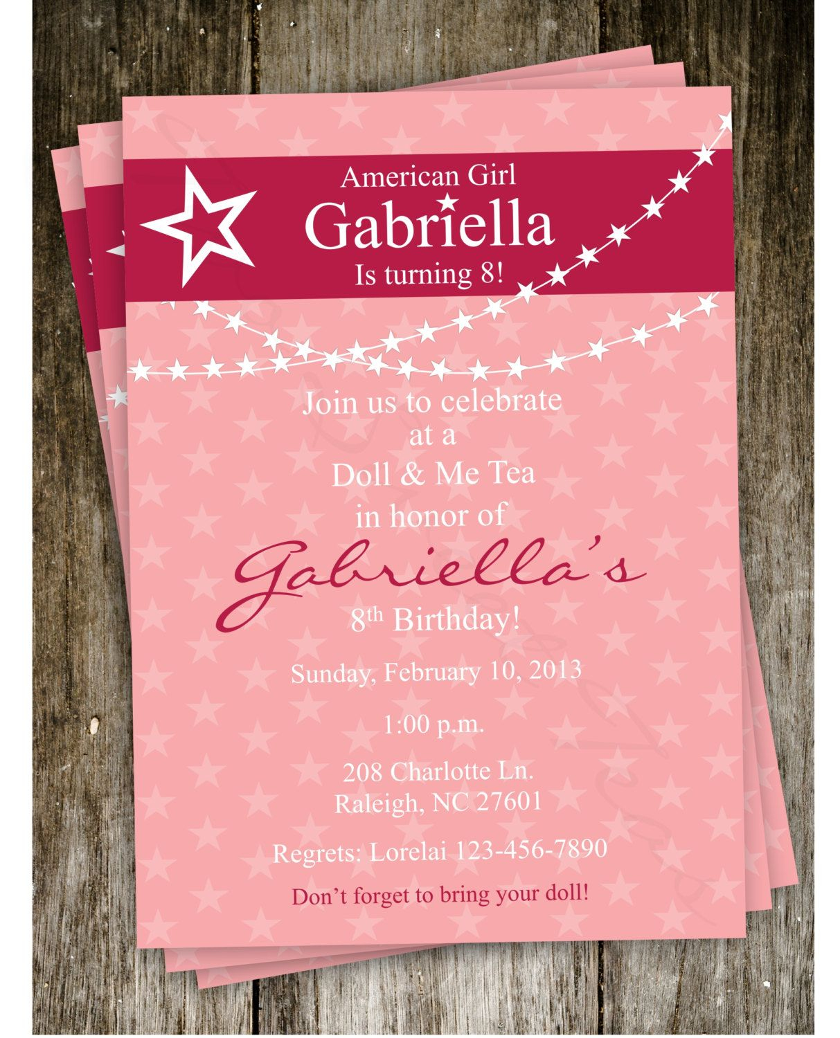 Free American Girl Party Invitations Printable – Invitetown- Can't - American Girl Party Invitations Free Printable