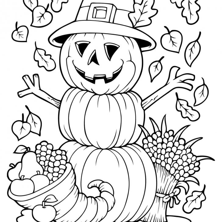 Free Fall Printable Coloring Sheets