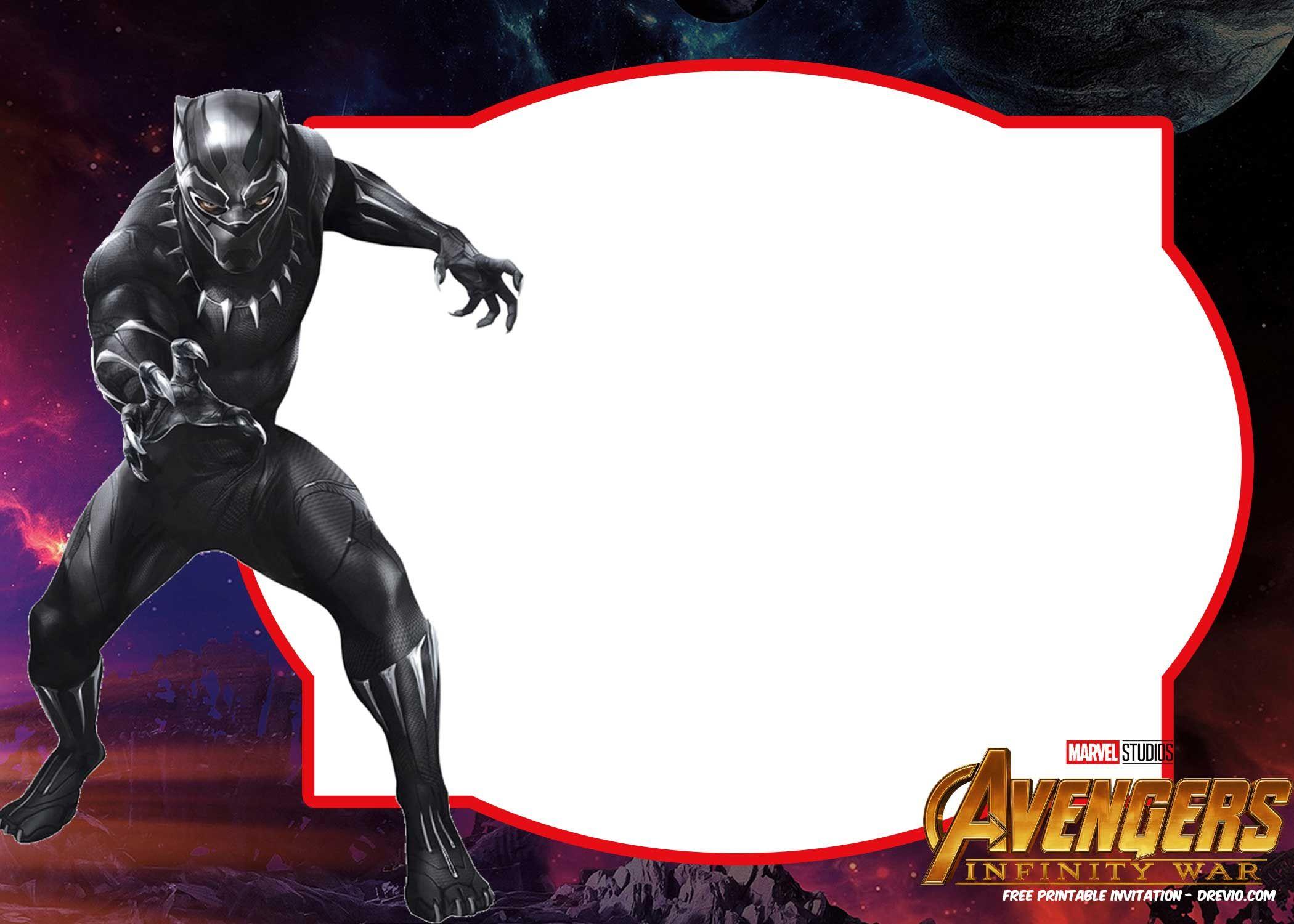 Free Avengers Infinity Wars Birthday Invitation Templates – All - Avengers Party Invitations Printable Free