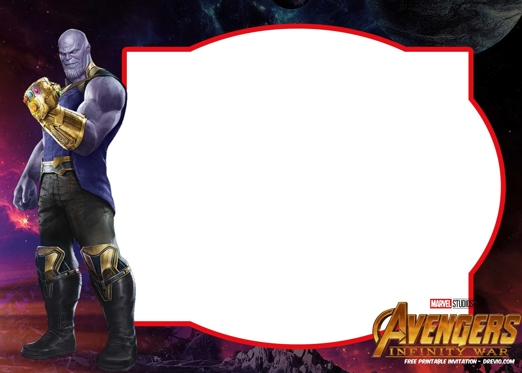 Free Avengers Infinity Wars Birthday Invitation Templates - All - Free Printable Avengers Birthday Party Invitations