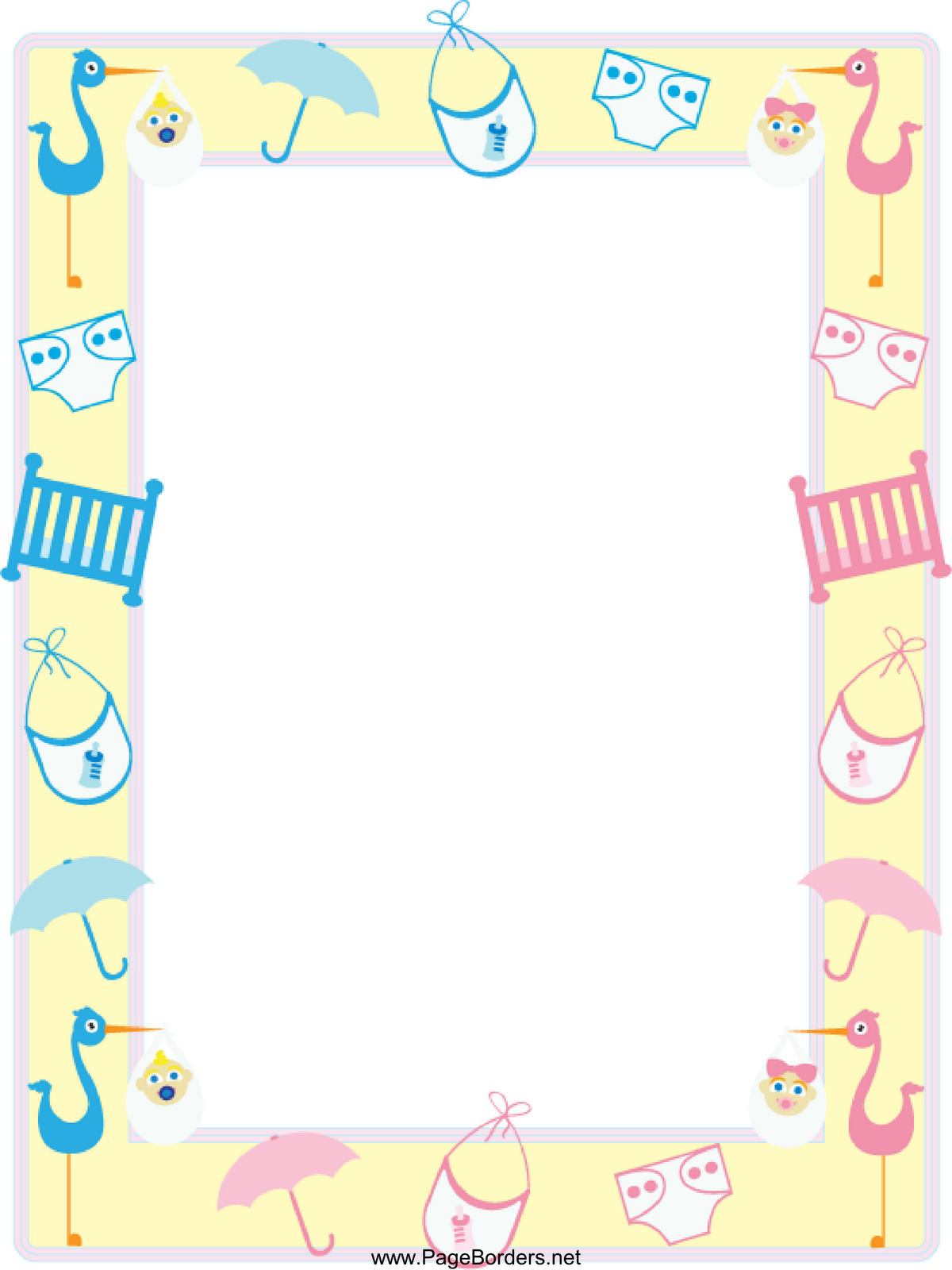 Free Baby Border Free, Download Free Clip Art, Free Clip Art On - Free Printable Baby Borders For Paper