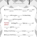 Free Baby Mad Libs Game   Baby Advice   Baby Shower Ideas   Themes   Free Printable Black And White Baby Shower Invitations