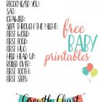 Free Baby Printables: Track Milestones | >> Free Printables   Free Printable Baby Memory Book