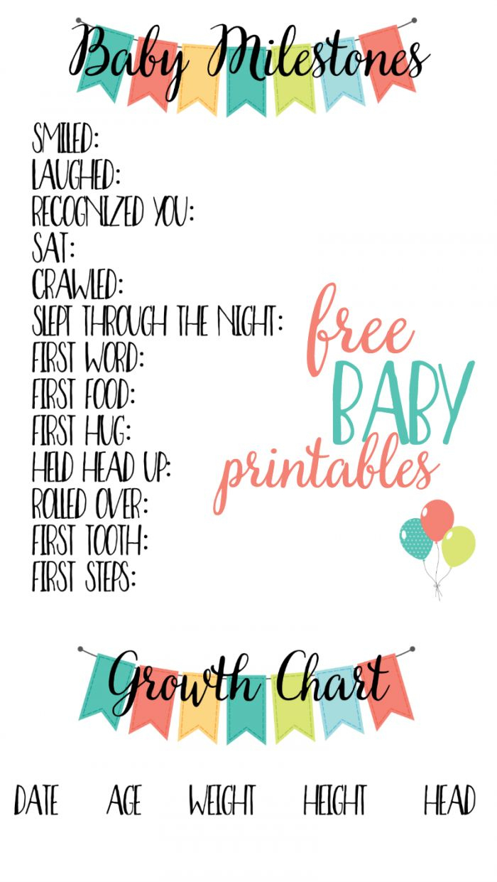 Free Baby Printables: Track Milestones | >> Free Printables - Free Printable Baby Memory Book