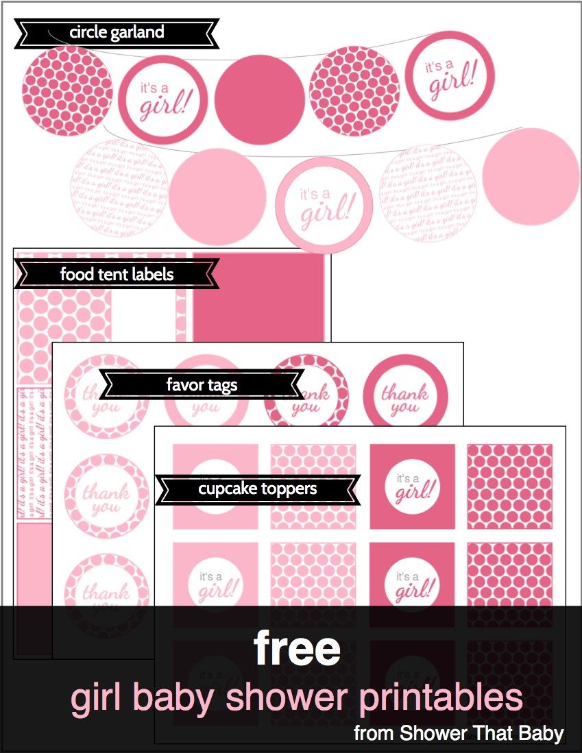 Free Baby Shower Printables | Shower That Baby - Free Printable Baby Shower Labels And Tags