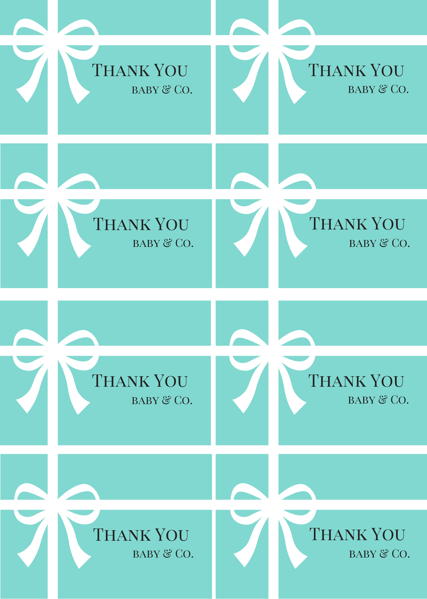 Free Baby Shower Thank You Tags Printables - Baby Shower Ideas - Free Printable Baby Shower Labels And Tags