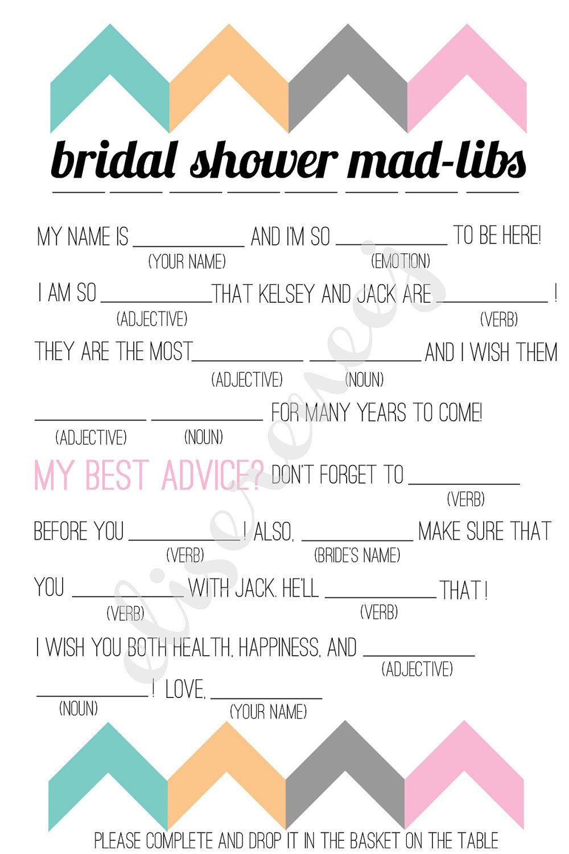 Free Bachelorette Party Mad Libs   Printable Bridal Shower Madlib - Free Printable Wedding Mad Libs