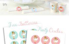 Free Printable Ballerina Birthday Invitations