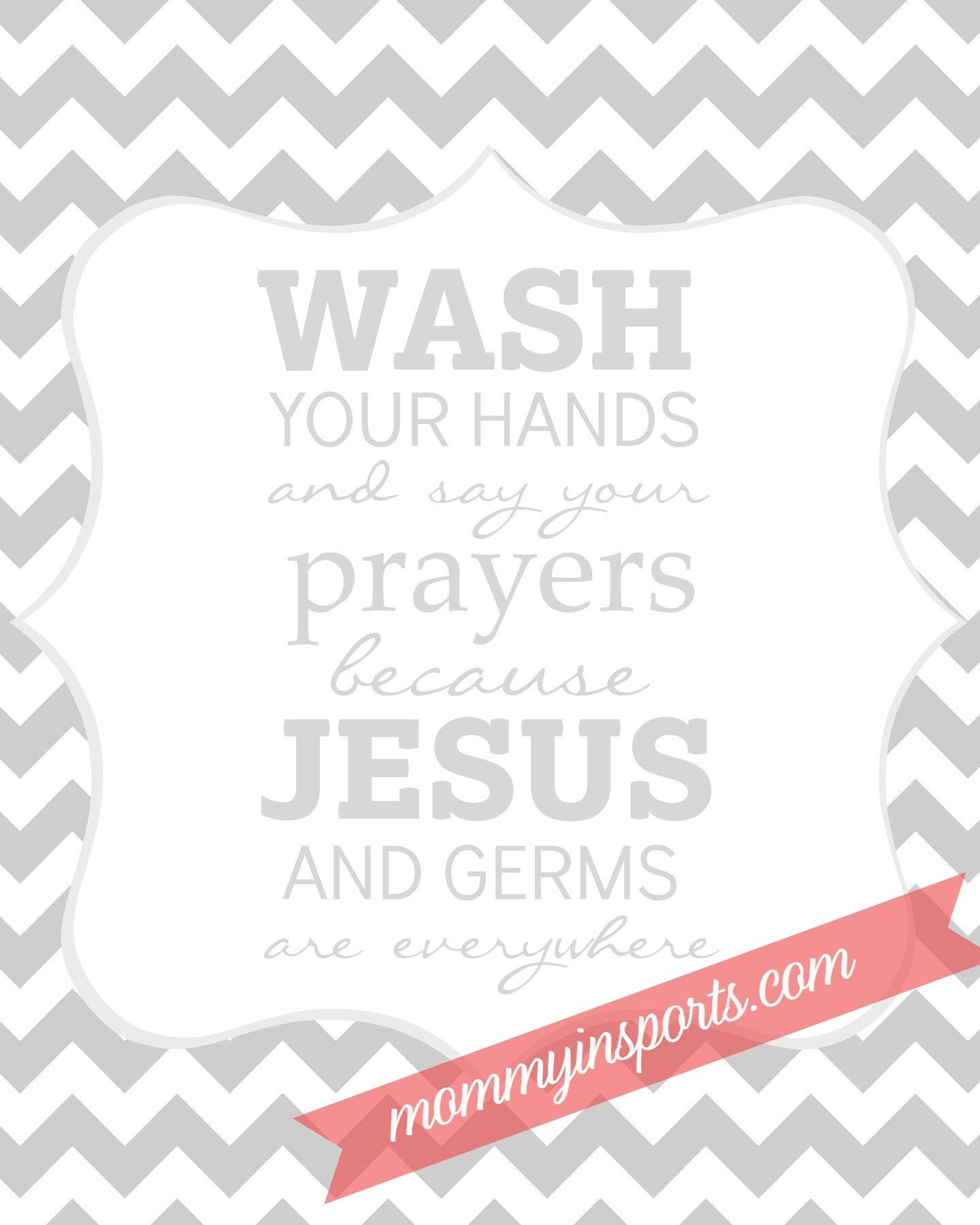 Free Bathroom Printable | Camp Ideas | Bathroom, Bathroom - Wash Your Hands And Say Your Prayers Free Printable